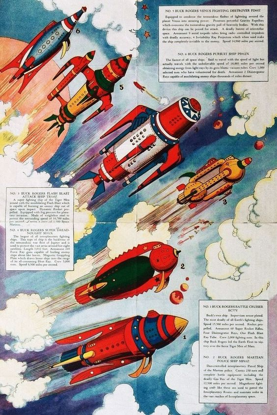 50s spaceships